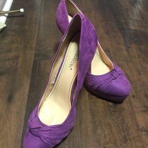 """Gorgeous violet pumps 5"""" heels"""
